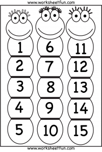 6 Images of Printable Number Chart 1 15