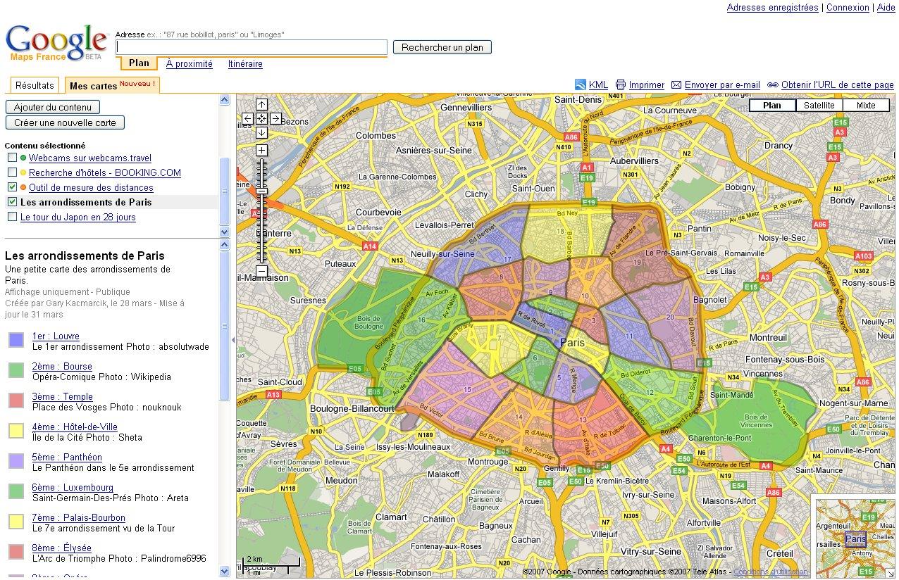 Paris Arrondissement Map