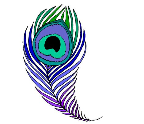 5 Images of Peacock Feather Coloring Pages Printables