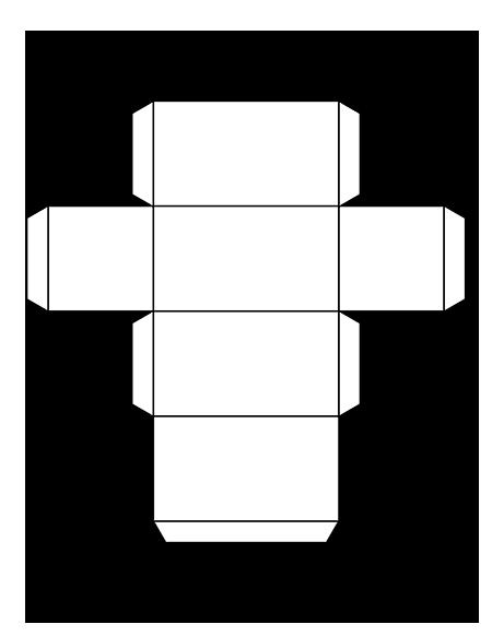 4 Images of Rectangular Prism Net Printable