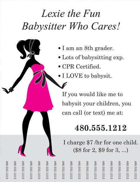 7 Images of Printable Babysitter Flyer