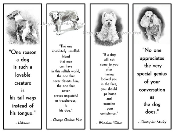 7 Images of Printable Dog Bookmarks