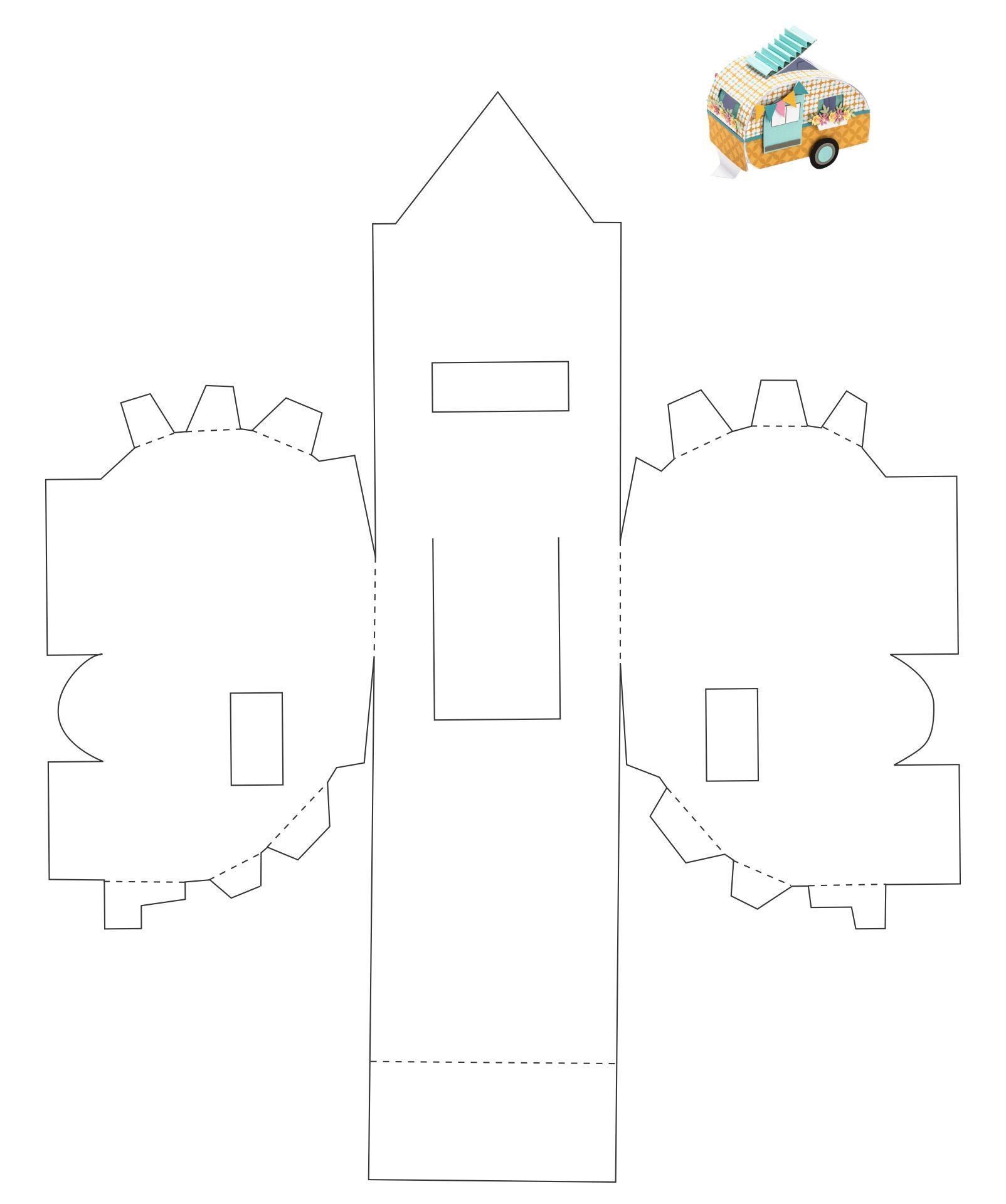 Printable Camper Paper Template