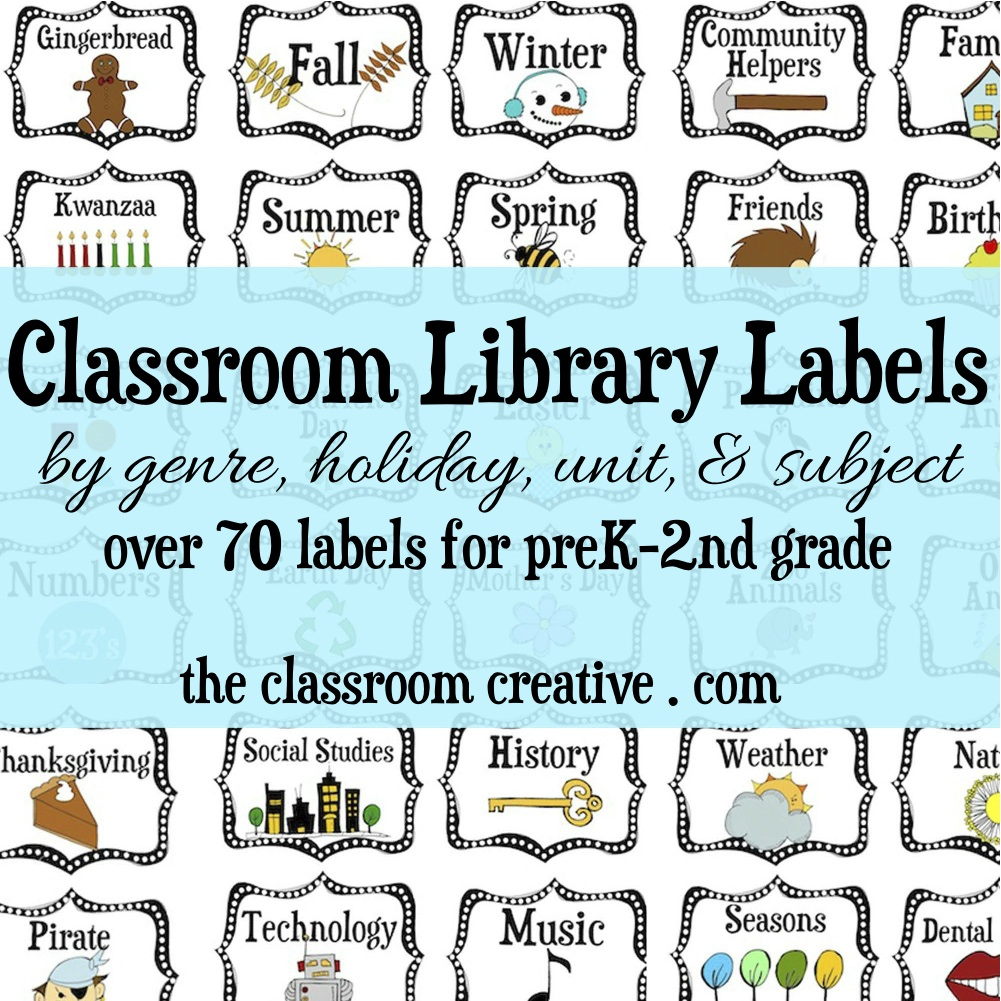 7 Images of Printable Book Labels For Classrooms