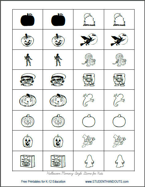 8 Images of Free Printable Memory Game Card