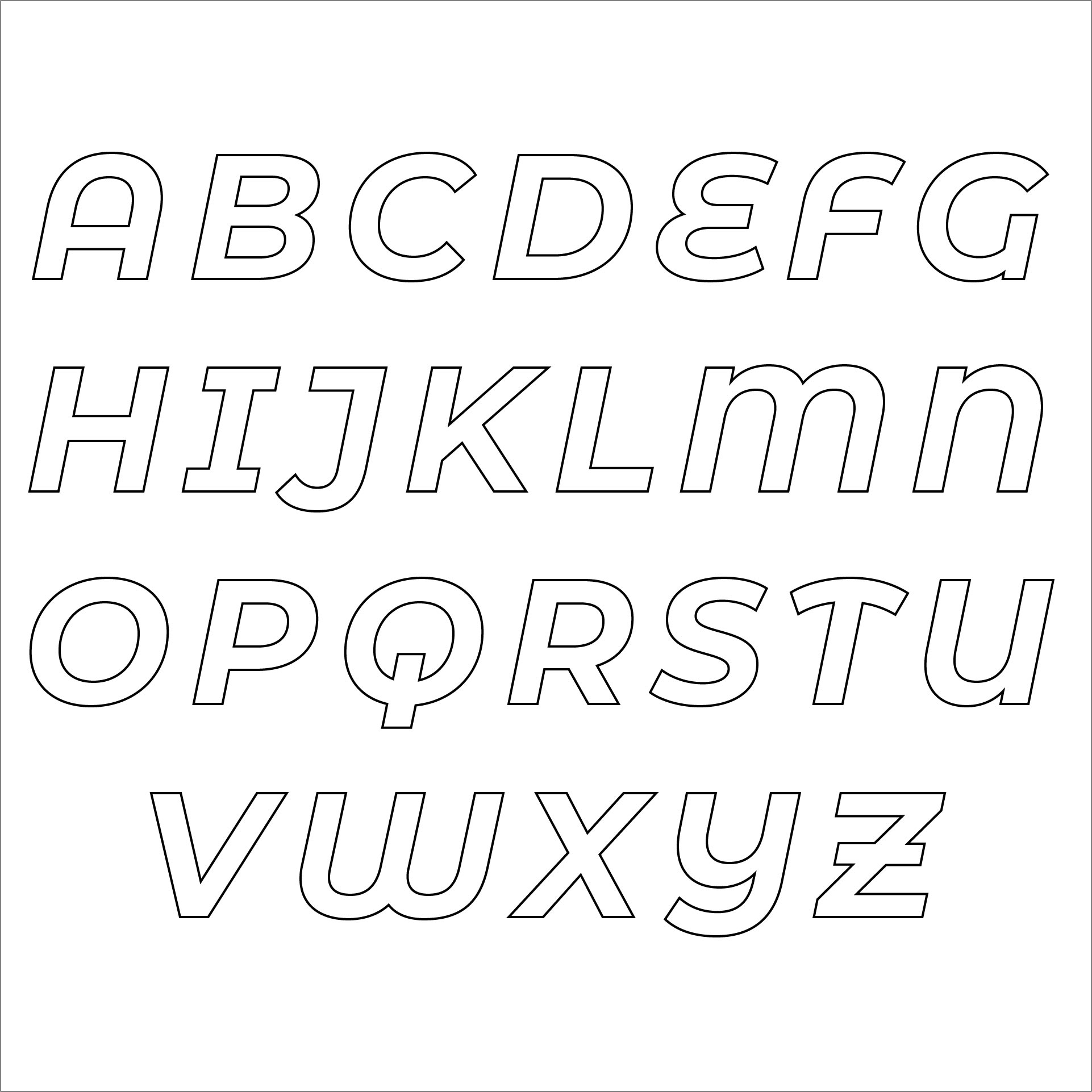 4 Images of Free Printable Alphabet Stencil Letters Template