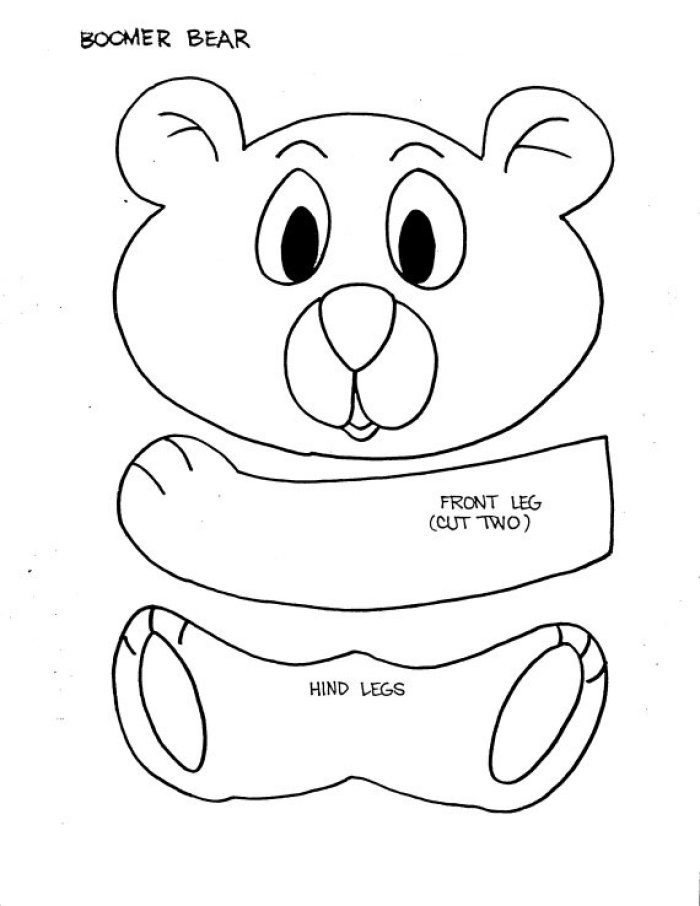 6 Images of Bear Paper Bag Puppet Printables