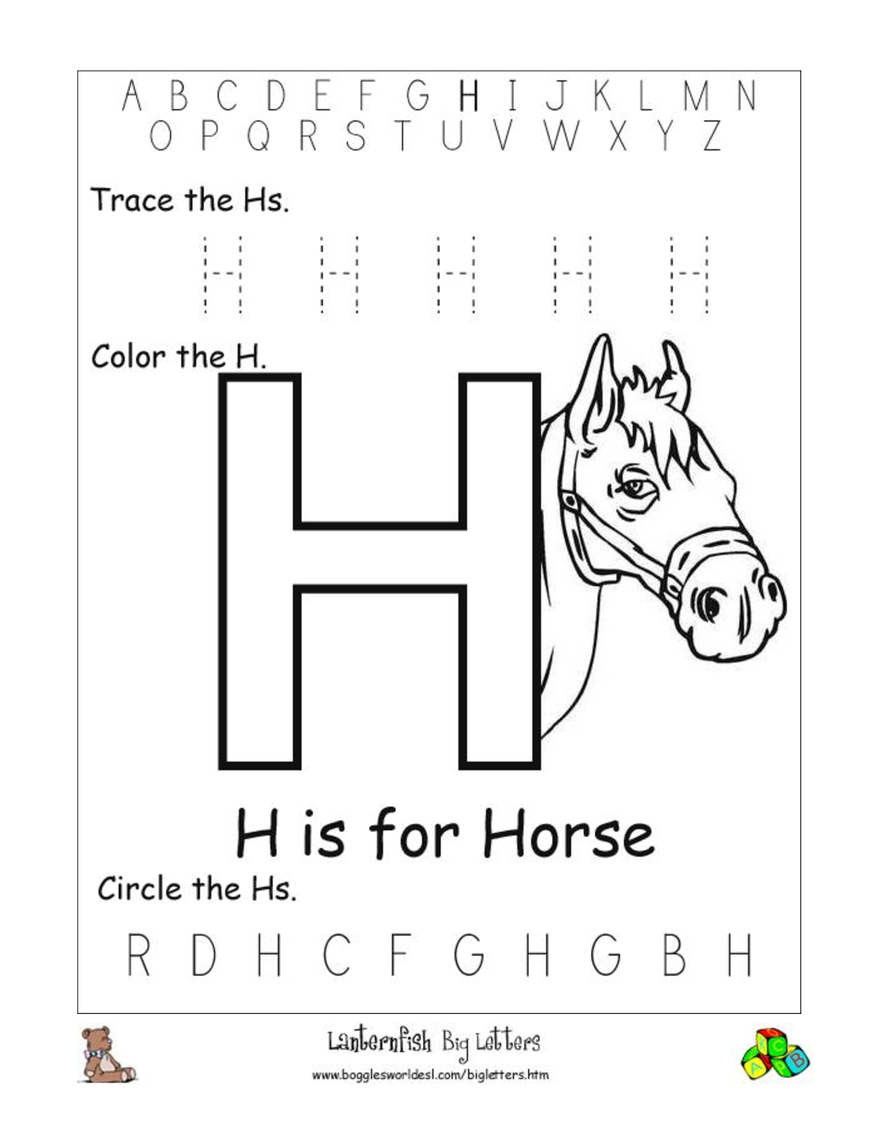 6 Best Images of Printable Letter H Worksheets - Printable Letter ...