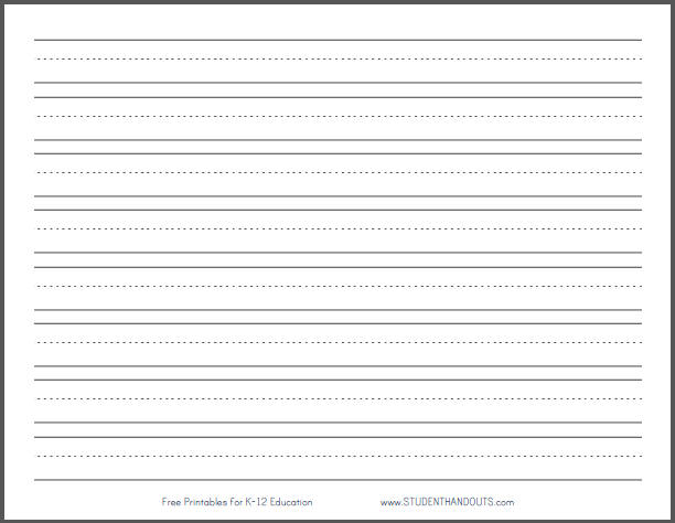 8 Images of Printable Primary Writing Paper