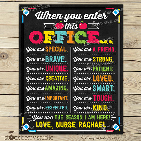 Printable School Nurse Signs
