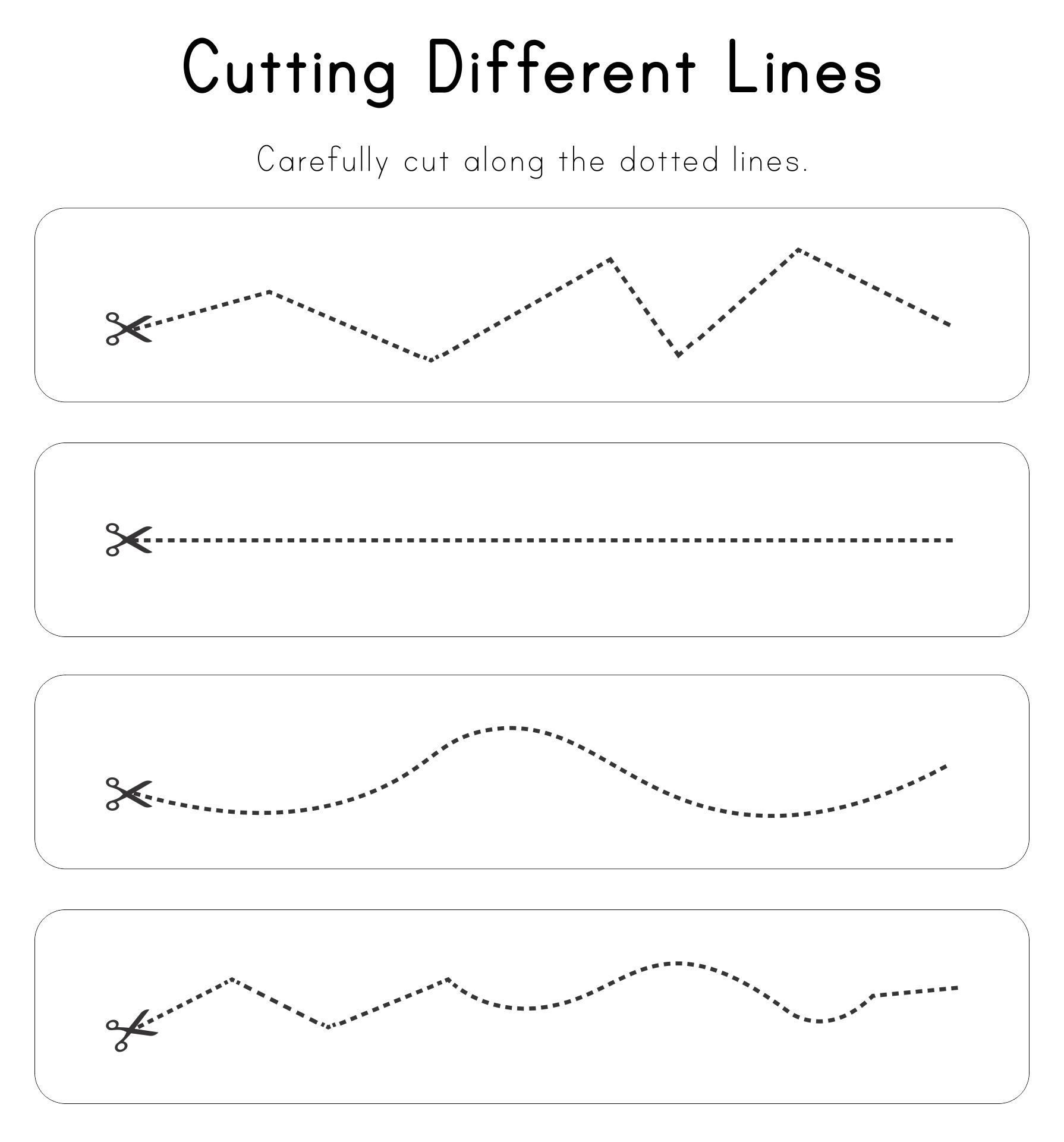 5 Images of Cutting Practice Printables