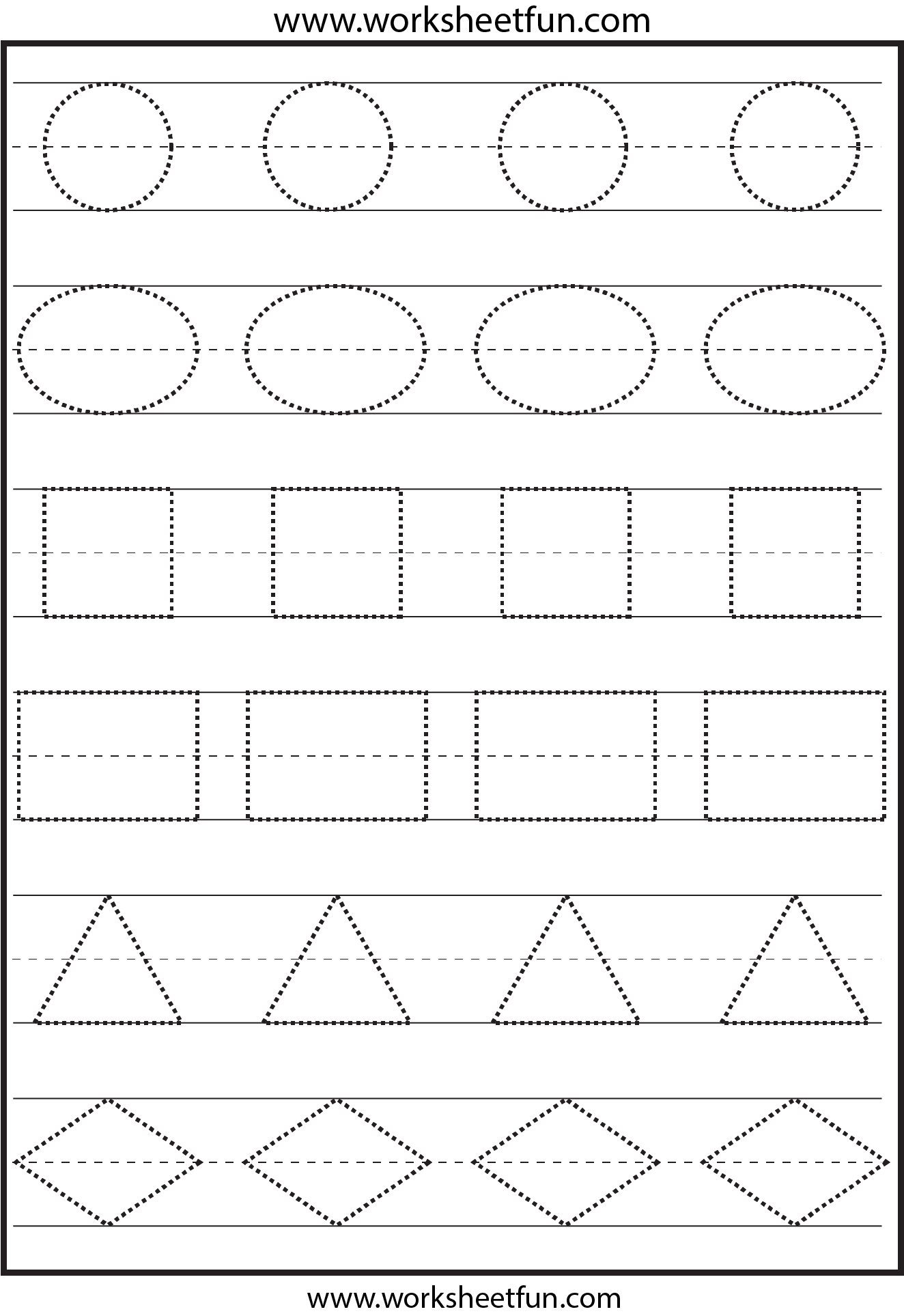 Printable Shape Tracing Worksheet