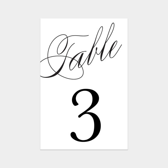 of Classroom Table Numbers Printable - Free Printable Table Numbers ...