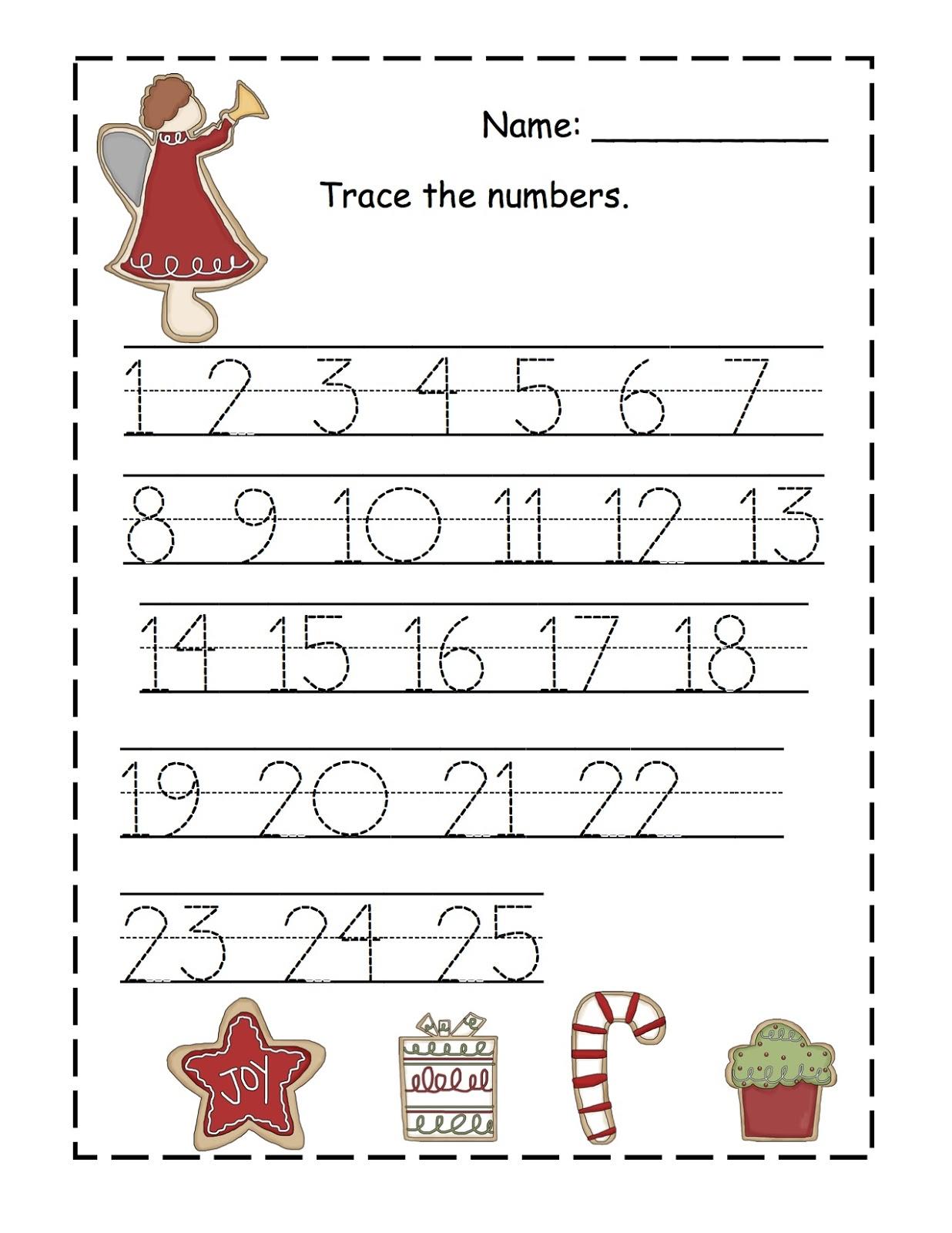 Kindergarten Number Writing Practice Worksheets