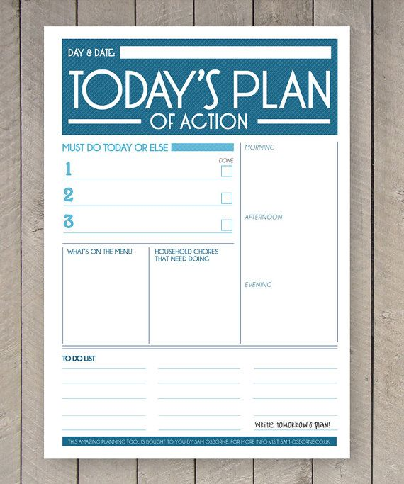 8 Images of Printable Daily Planner To Do List Worksheet