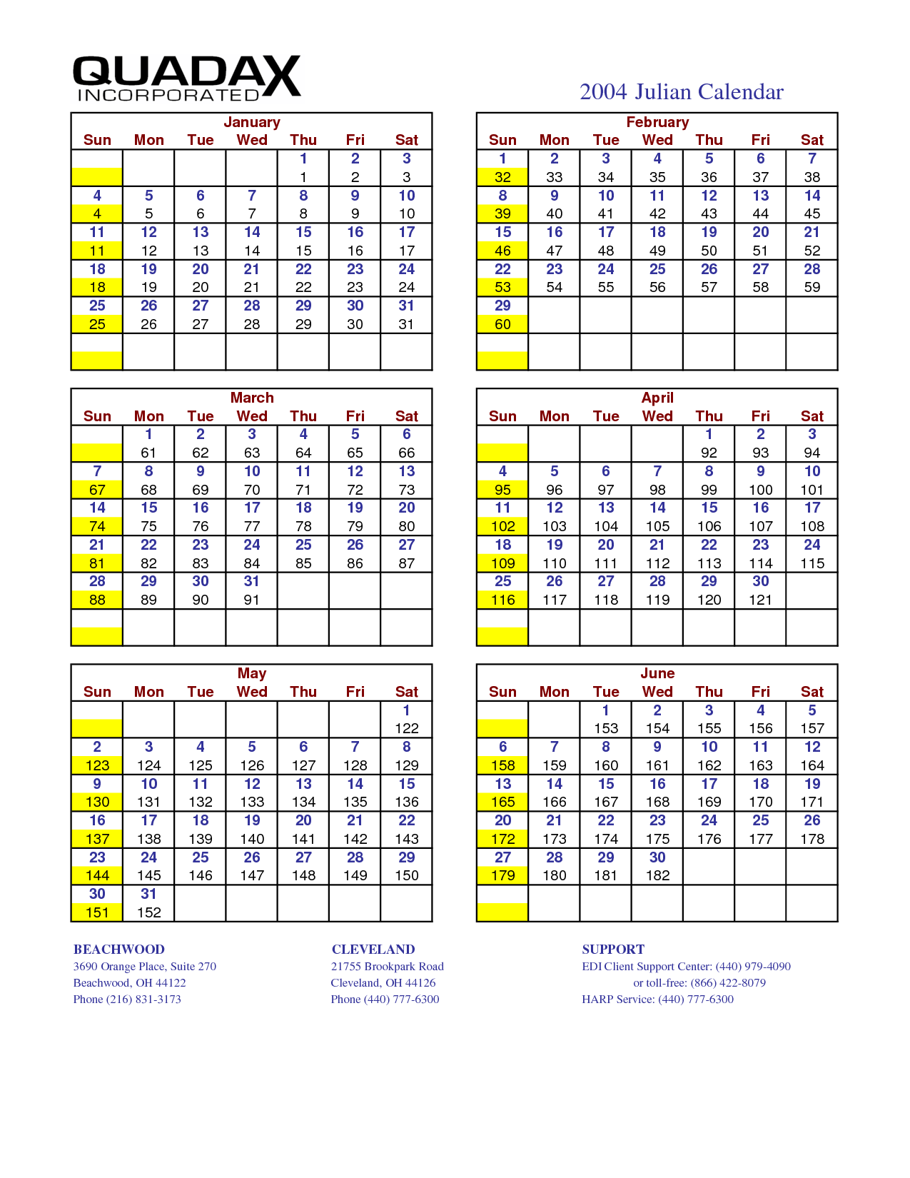 Date Calendar 2016 Printable - Julian Date Calendar 2014, Julian Date ...