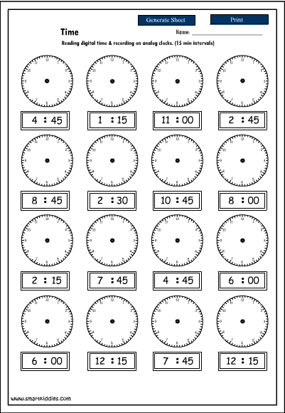 5 Best Images of Digital Clock Worksheets Printable - Digital ...