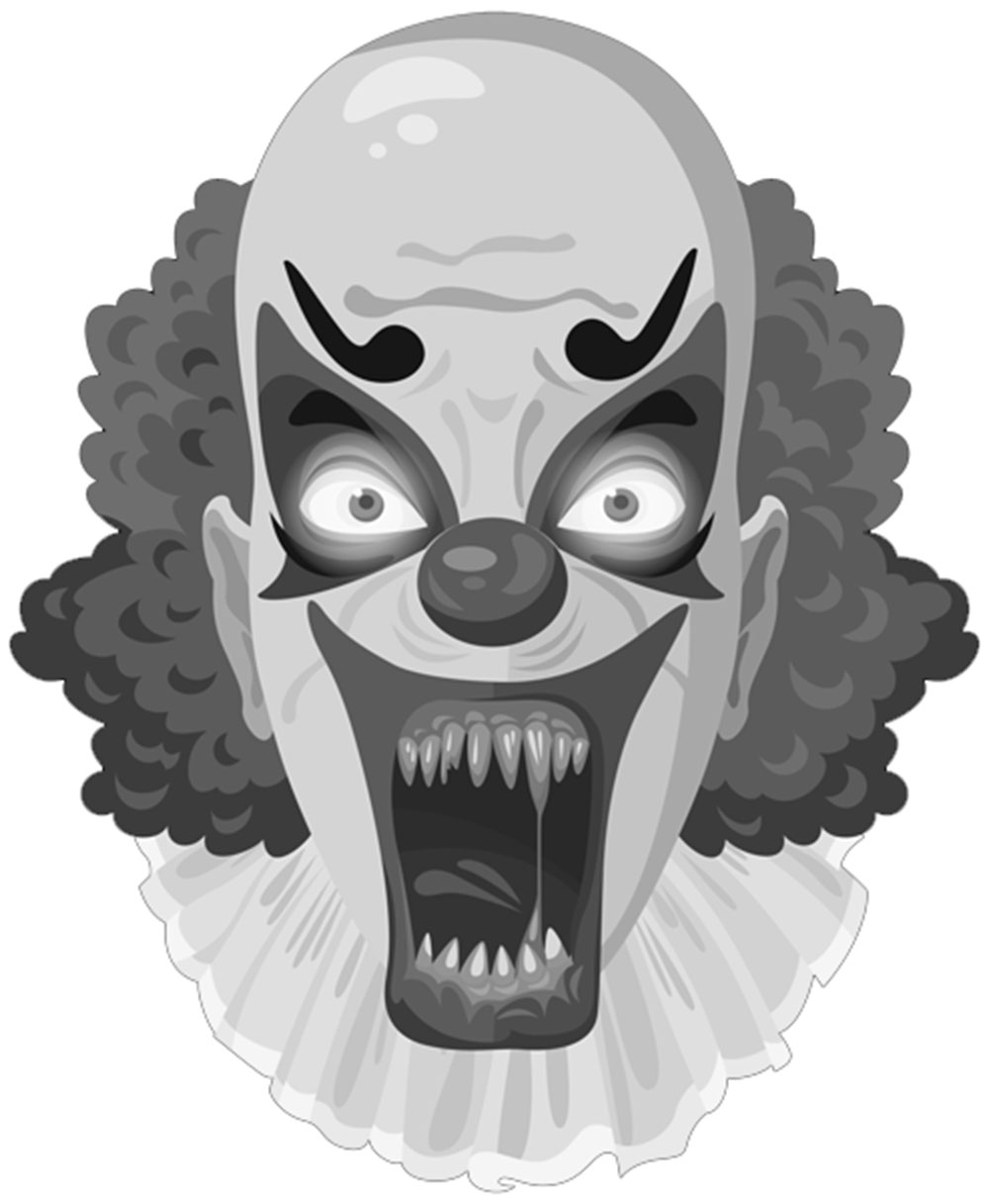 Scary Clown Face Mask Printable