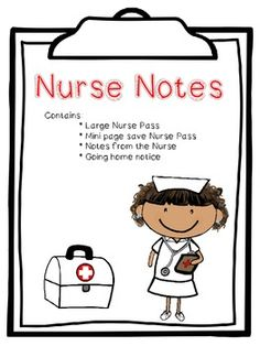 School Nurse Notes Home Template