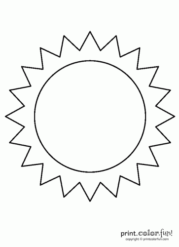6 Images of Printables About The Sun