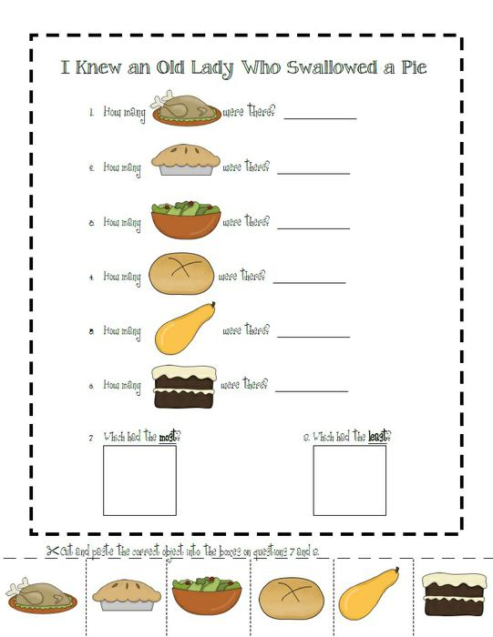 math worksheet : 8 best images of which graph has one more printable worksheets for  : Thanksgiving Math Worksheets Kindergarten