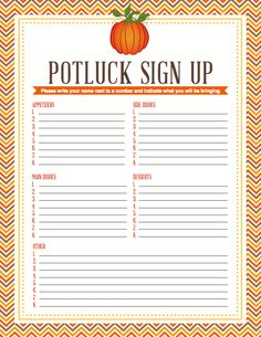 12 Images of Potluck Birthday Parties Printables
