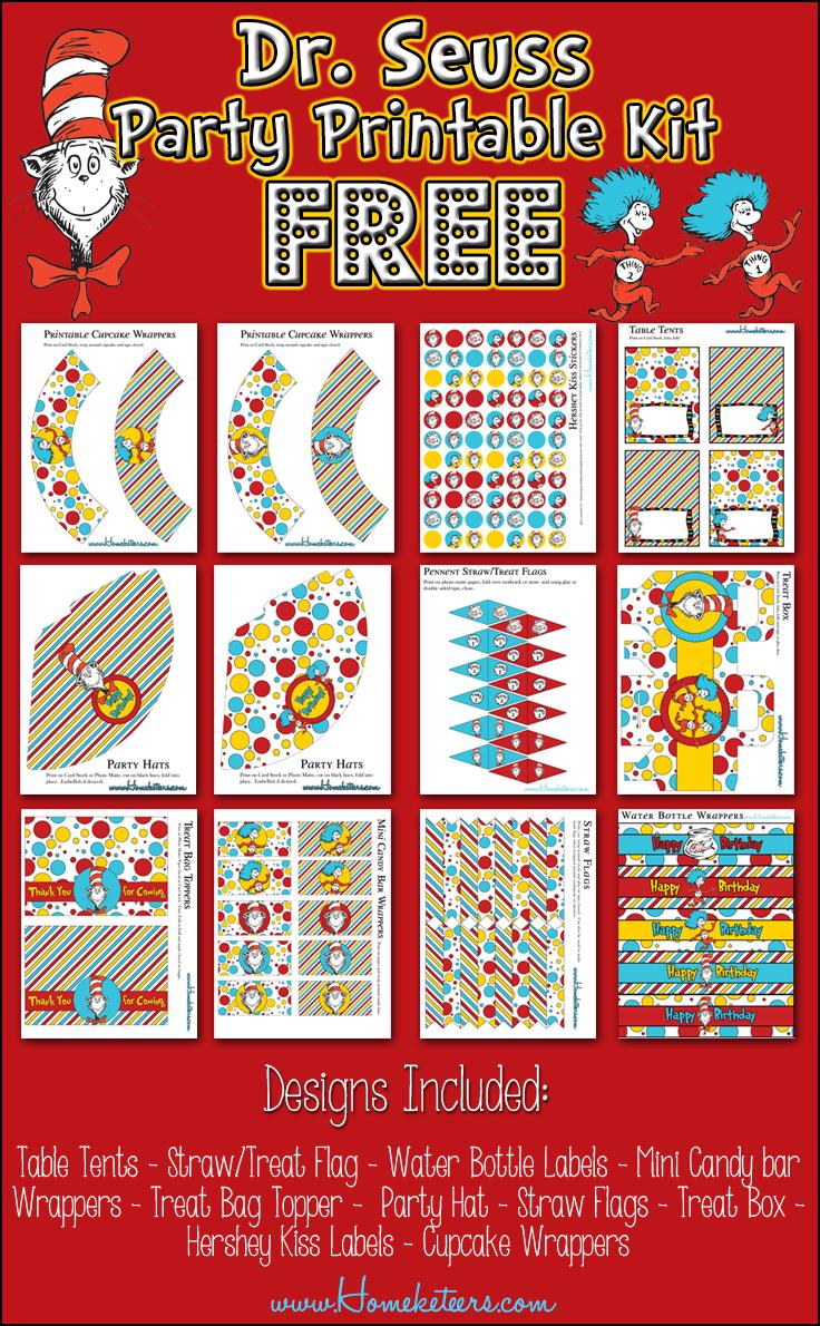 Thing 1 Dr. Seuss Free Printables