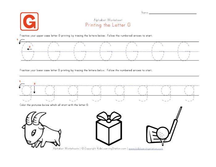 6 Best Images of Free Printable Alphabet Letter G Worksheets ...