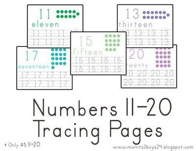 7 Images of Preschool Numbers 11 20 Printables