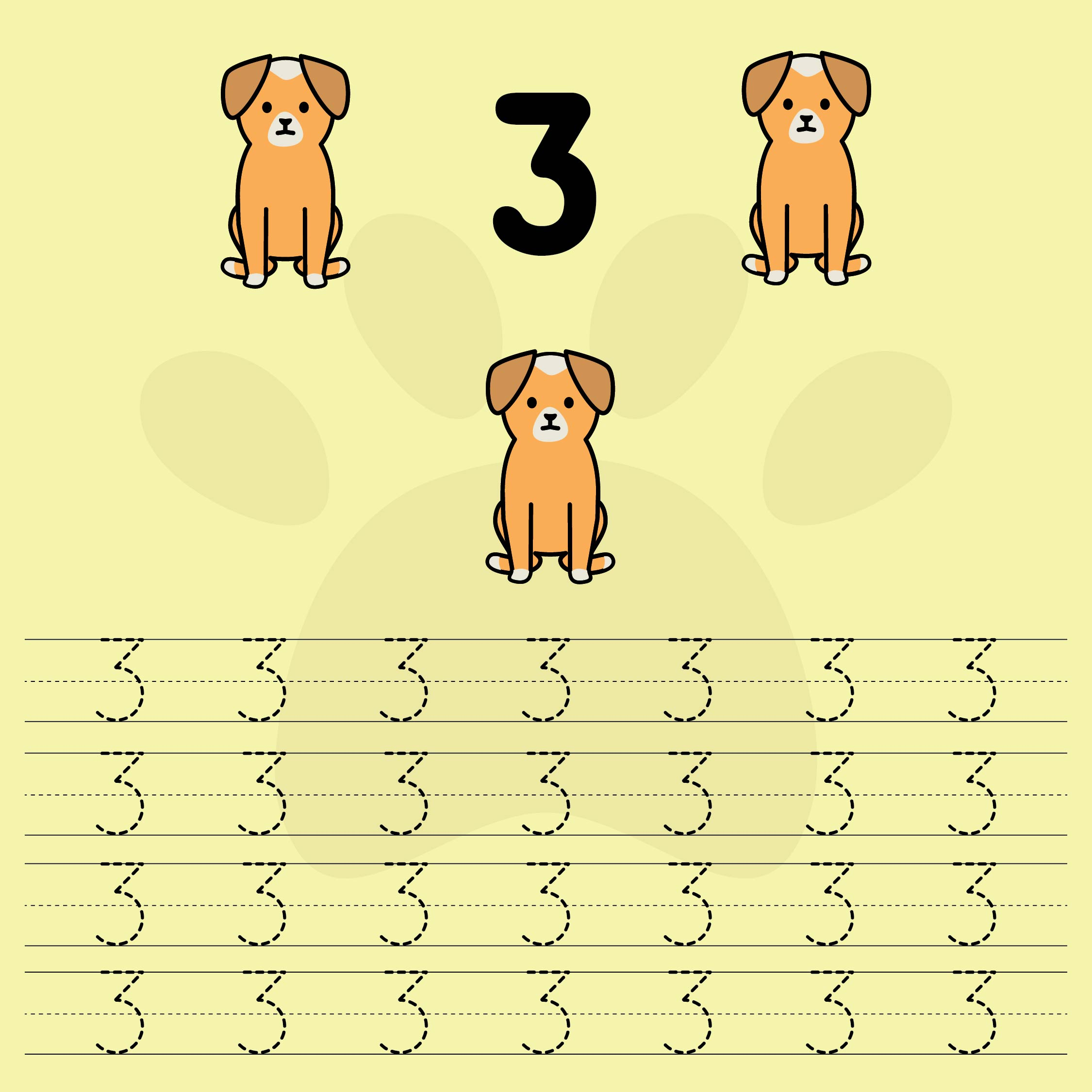 Tracing Numbers Worksheets 3