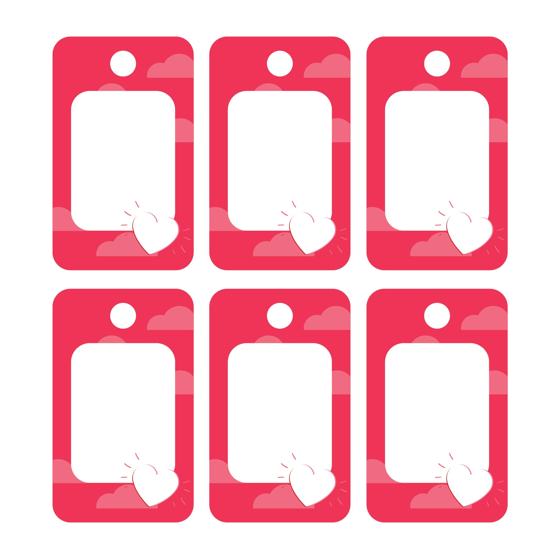 Valentines Day Printable Blank Labels
