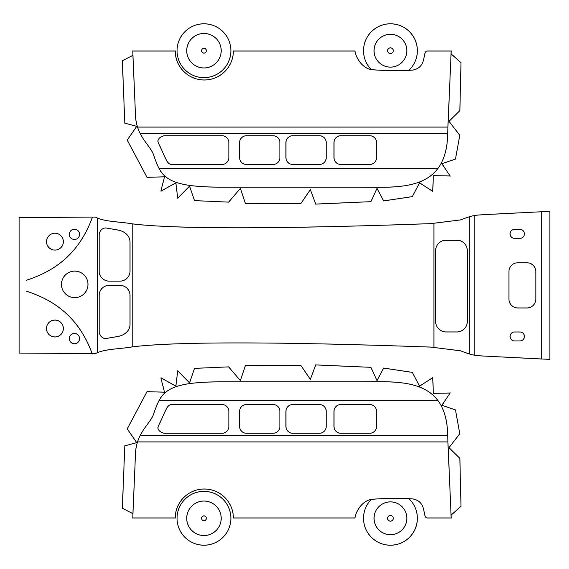 VW Cars Paper Model Template