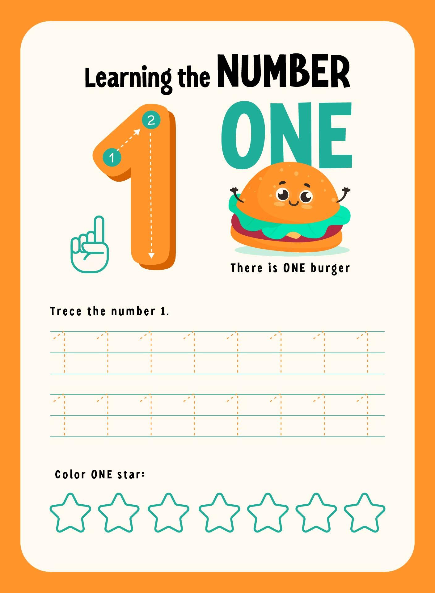 Tracing Numbers 1 10 Worksheets Kindergarten Templates and – Kindergarten 1 Worksheets