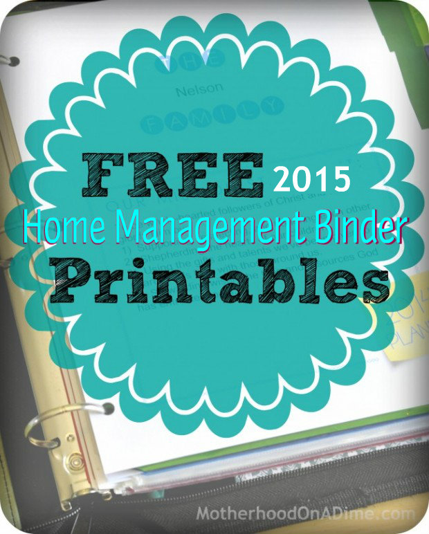 6 Images of Free Household Management Binder Printables