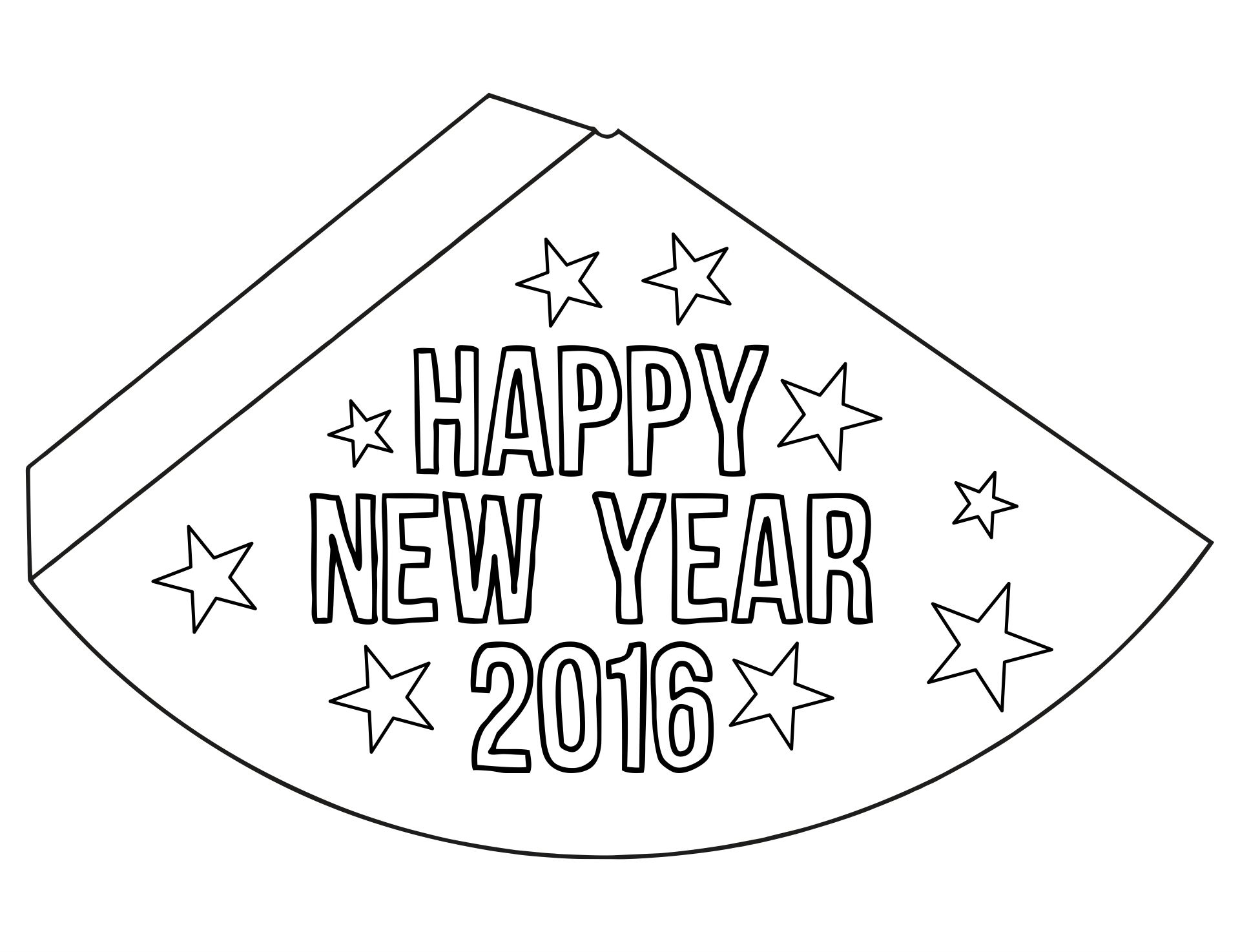 2016 New Year Eve Hat Printables