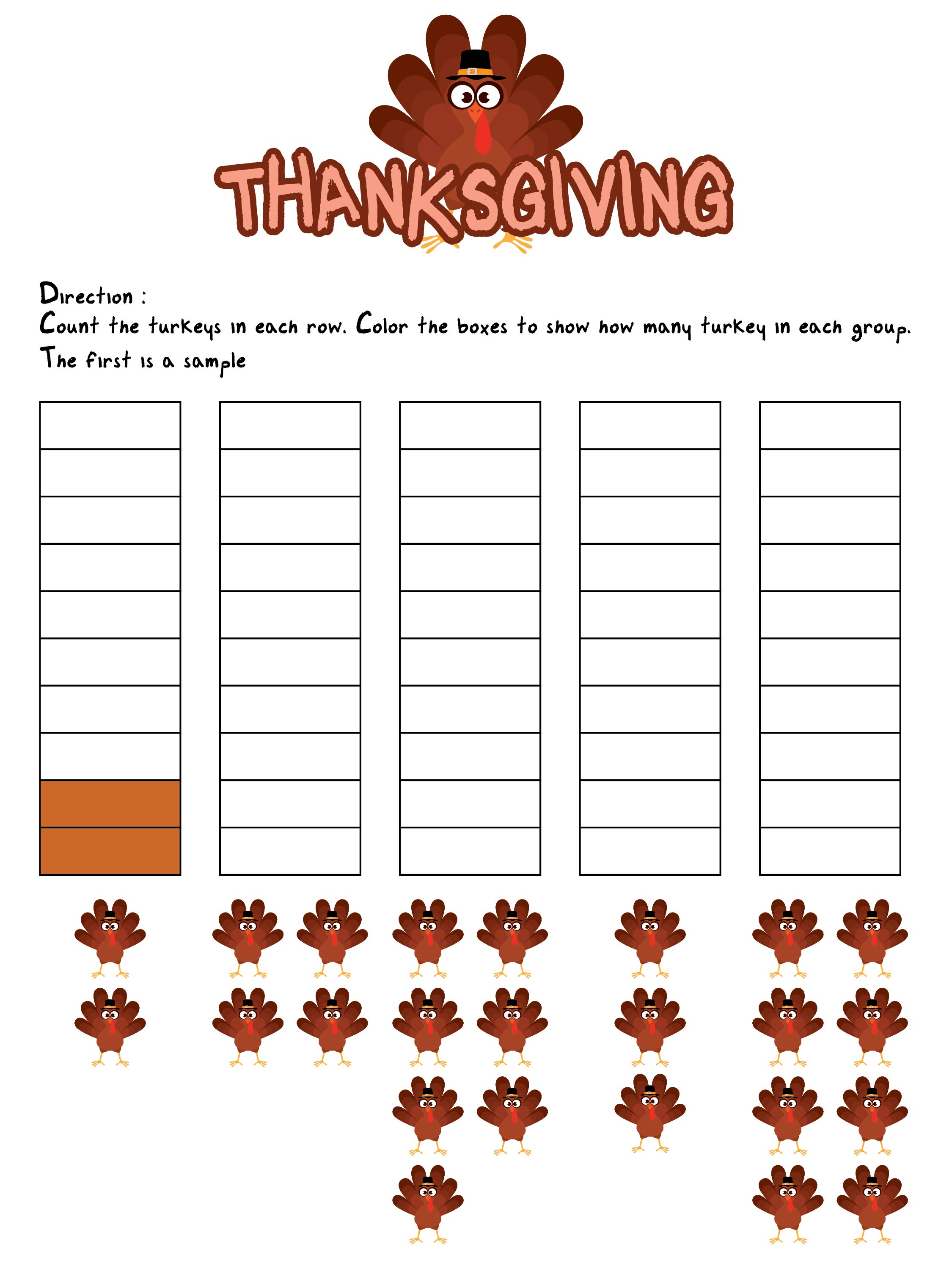 2nd Grade Thanksgiving Worksheets