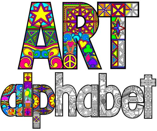 6 Images of Printable Alphabet Art