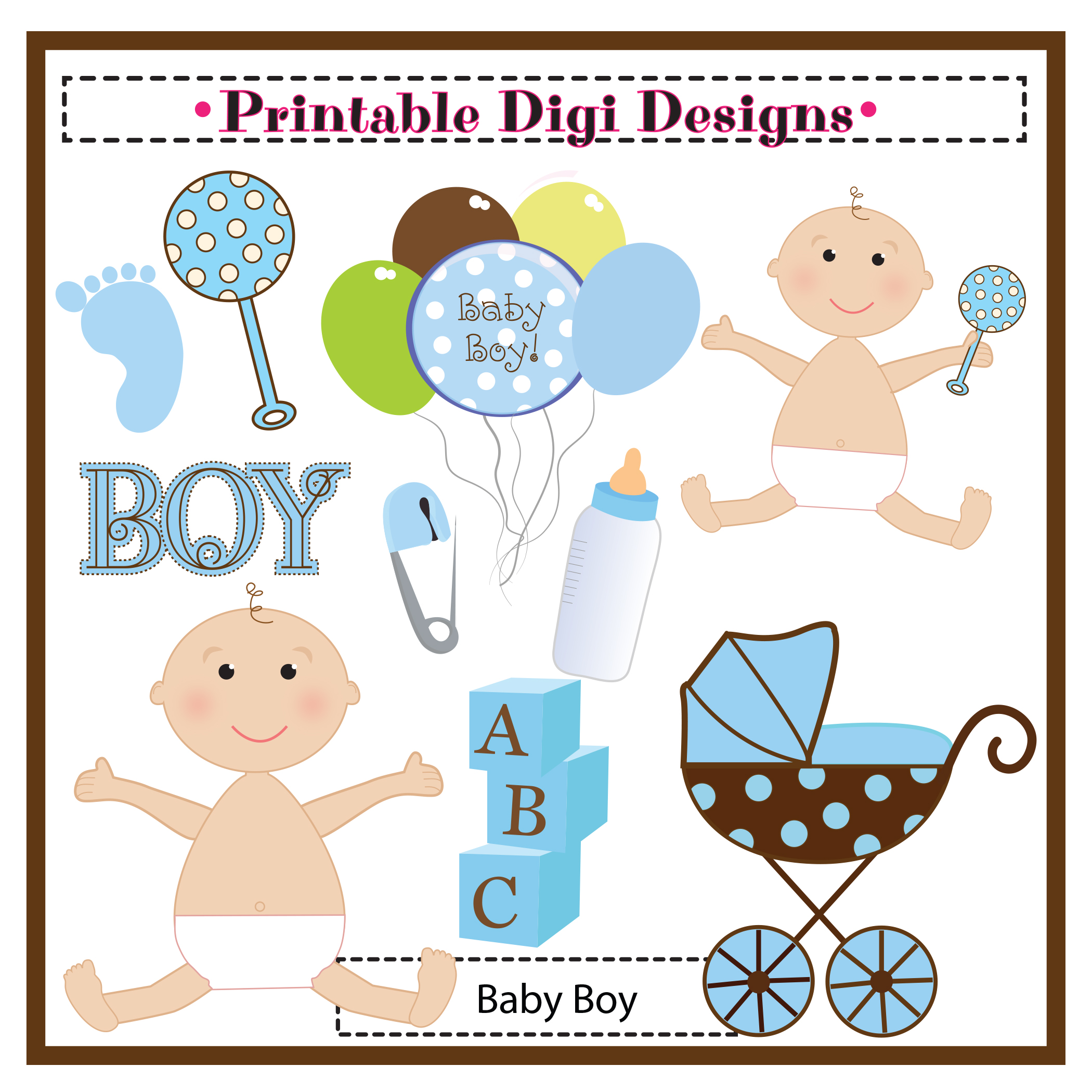 baby boy clipart shower - photo #28