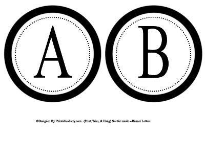 6 Images of Circle Printable Alphabet Letters