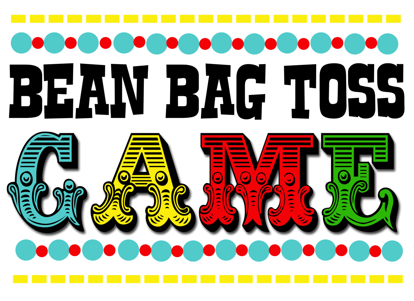 5 Images of Free Carnival Game Printables