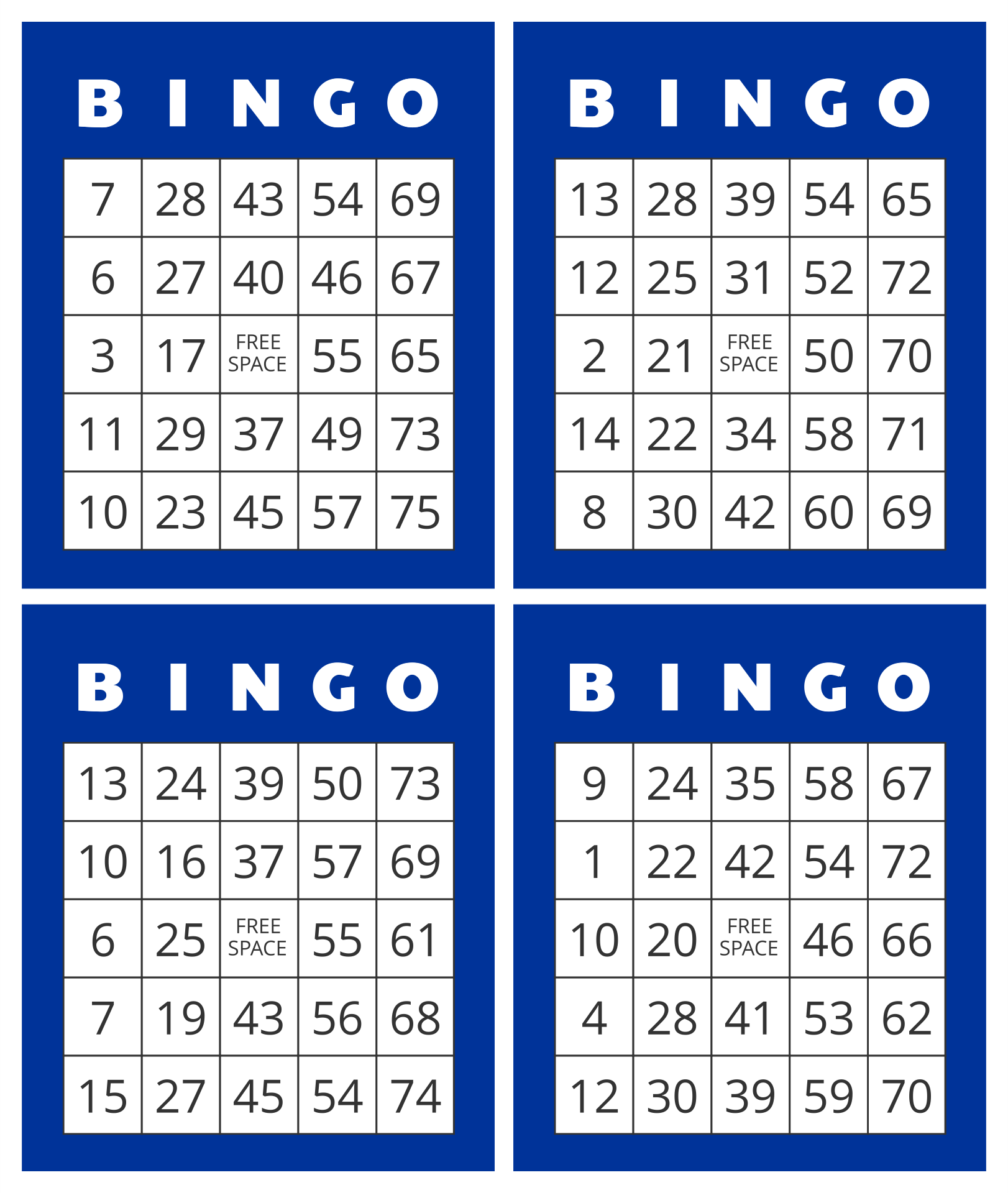 Breathtaking image within printable bingo numbers 1-75