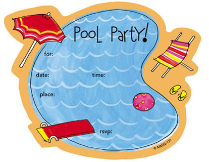 Blank Pool Party Invitation Templates