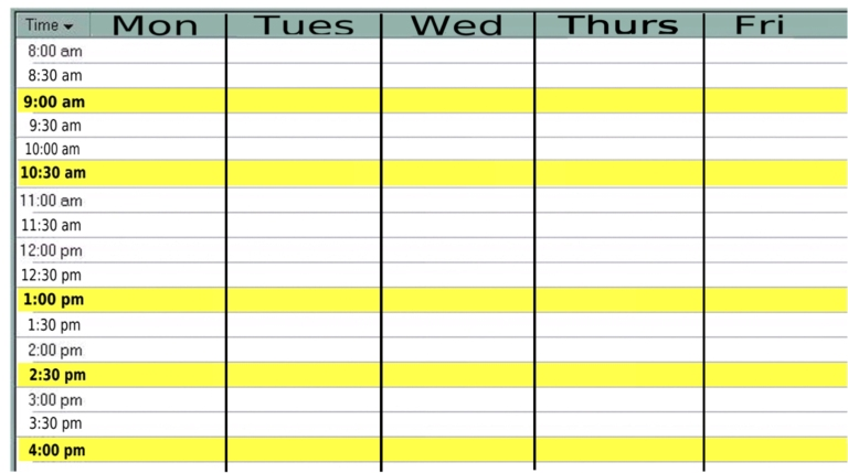 8 Images of Monday Through Friday Printable 2015 Planner