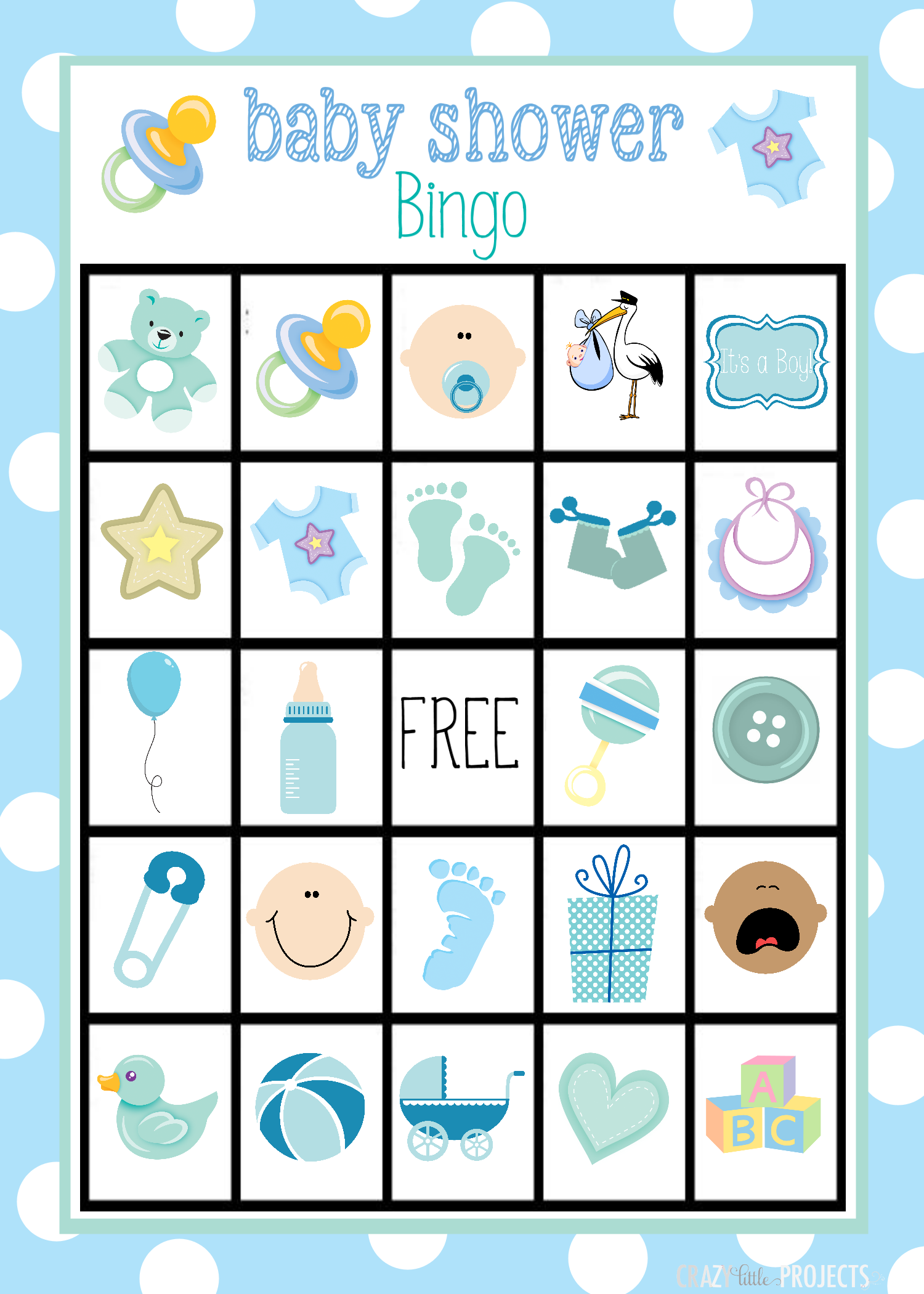 of baby shower bingo game cards printable boy baby shower bingo game