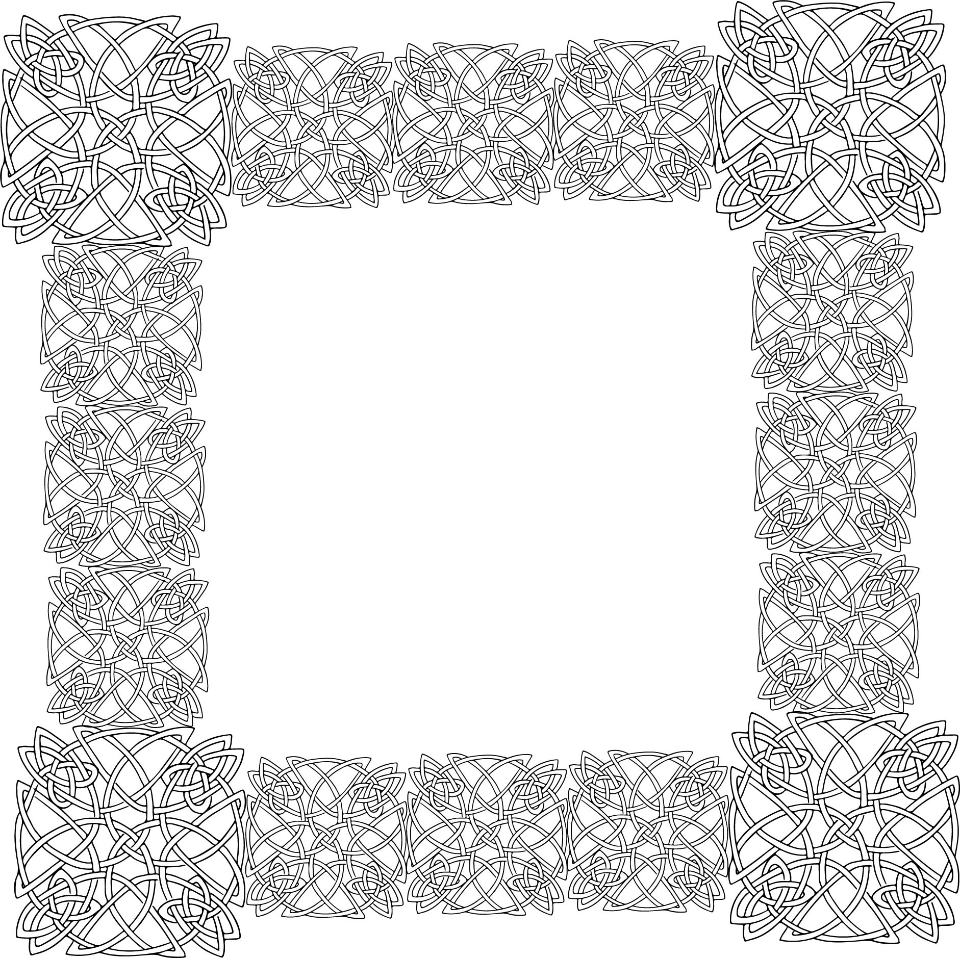 Celtic Frame Coloring Page