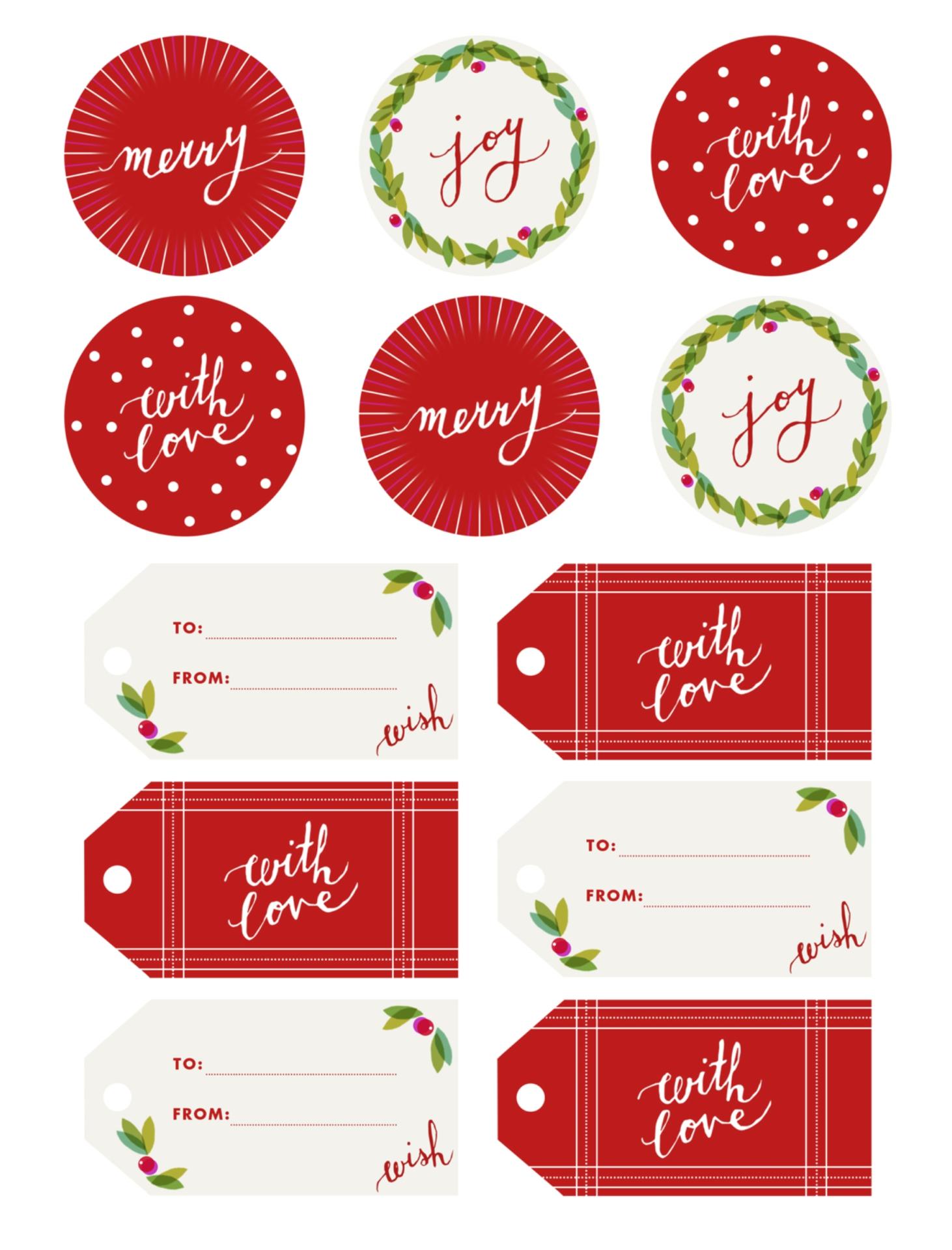 Christmas Food Gift Tag Printables Free