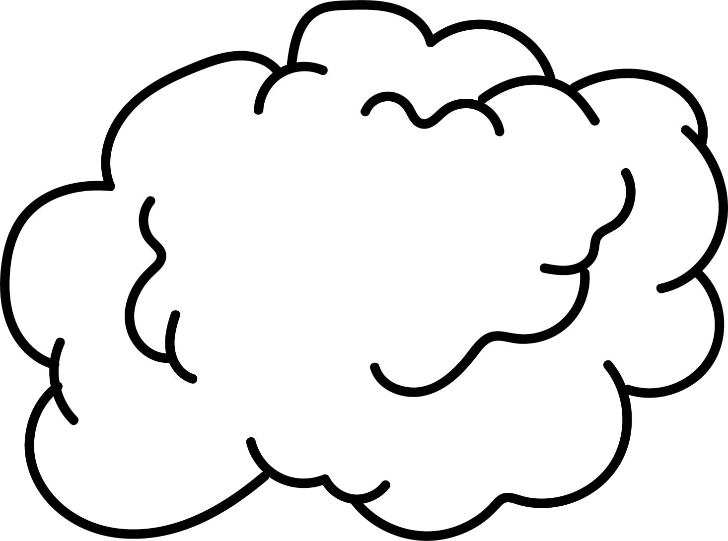 Cloud Cut Out Template