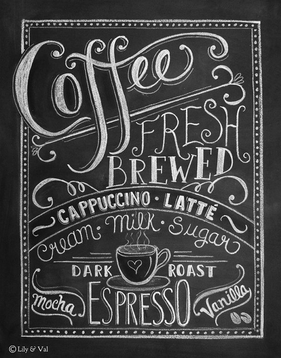 Coffee Bar Chalkboard Art