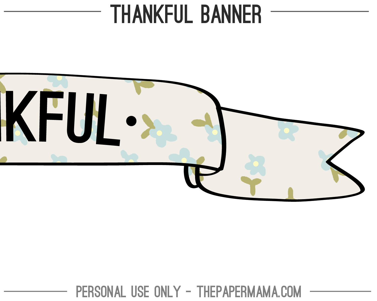 Create Your Own Printable Banner