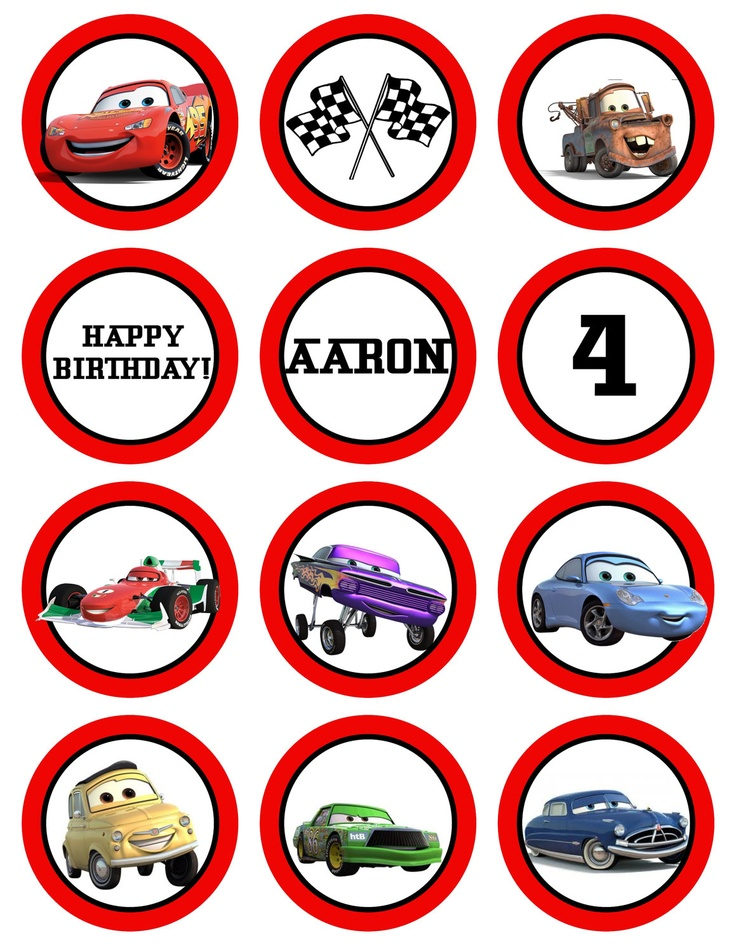 8 Best Images Of Disney Cars Birthday Printables